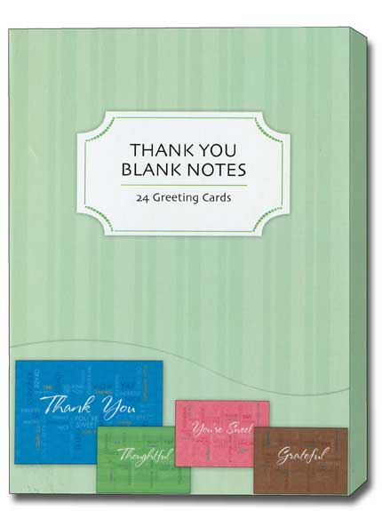 Thank You Value Box (24 Thank You Cards with envelopes) Assorted Value Boxed Thank You Cards