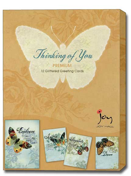 Loving Thoughts (12 Thinking of You Cards with envelopes) Assorted Boxed Thinking of You Cards