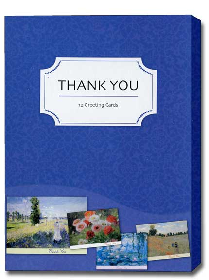 impressionist box of 12 assorted thank you cards by studio q
