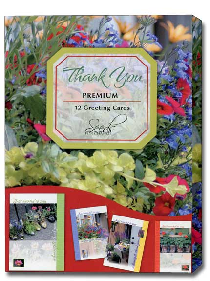 Seeds for Change (12 Thank You Cards with envelopes) Assorted Boxed Thank You Cards