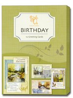 A Year of Grace (12 Birthday Cards with envelopes) Assorted Boxed Birthday Cards