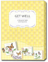 Petite Greetings Box of 12 Get Well Cards