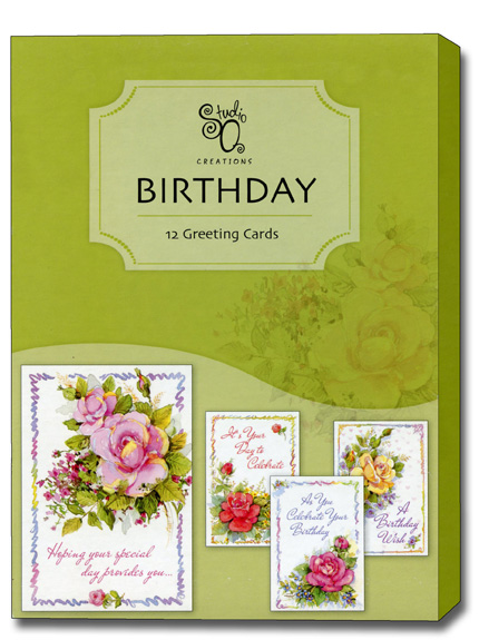 Celebrating You Box of 12 Assorted Birthday Cards by Studio Q – Boxed Birthday Card Assortment