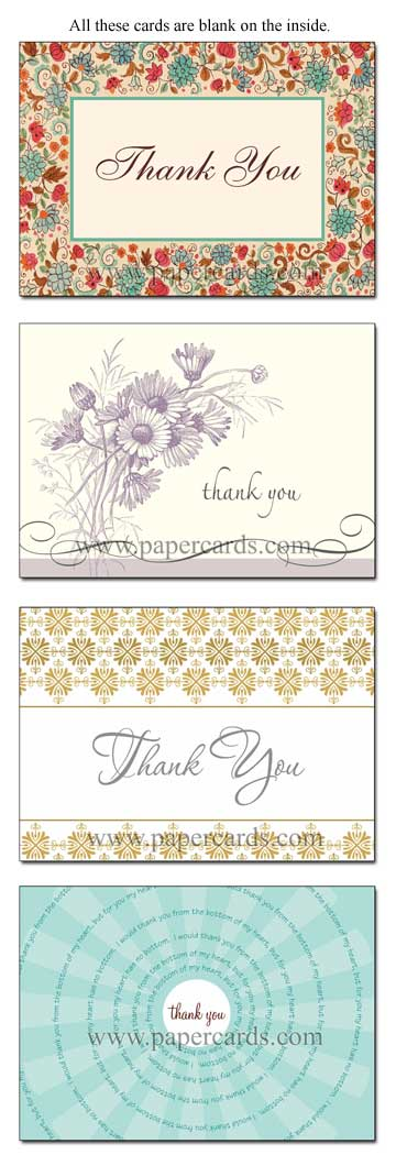 Assorted Thank You Value Box (24 Thank You Cards with envelopes) Assorted Value Boxed Thank You Cards