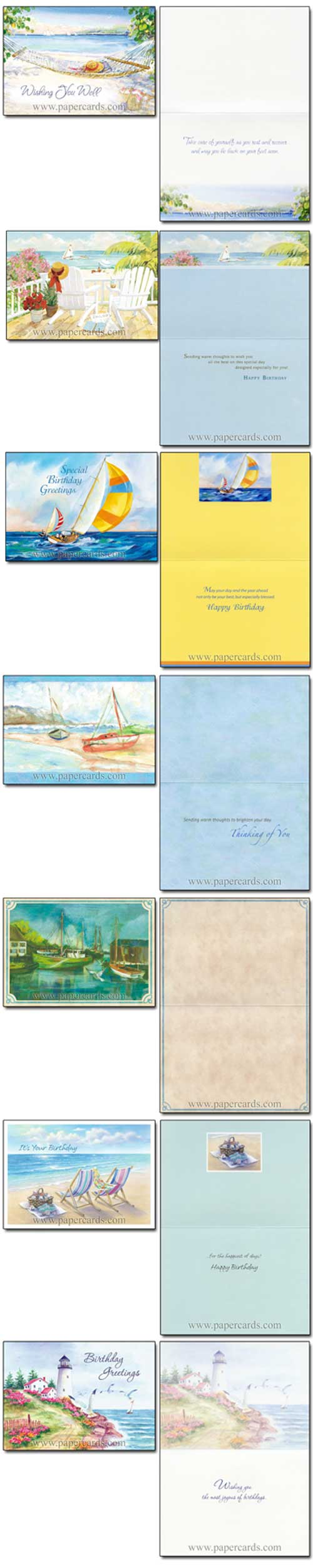 Shoreline Greetings Assortment (24 All Occasion Cards with envelopes) - Boxed All Occasion Cards