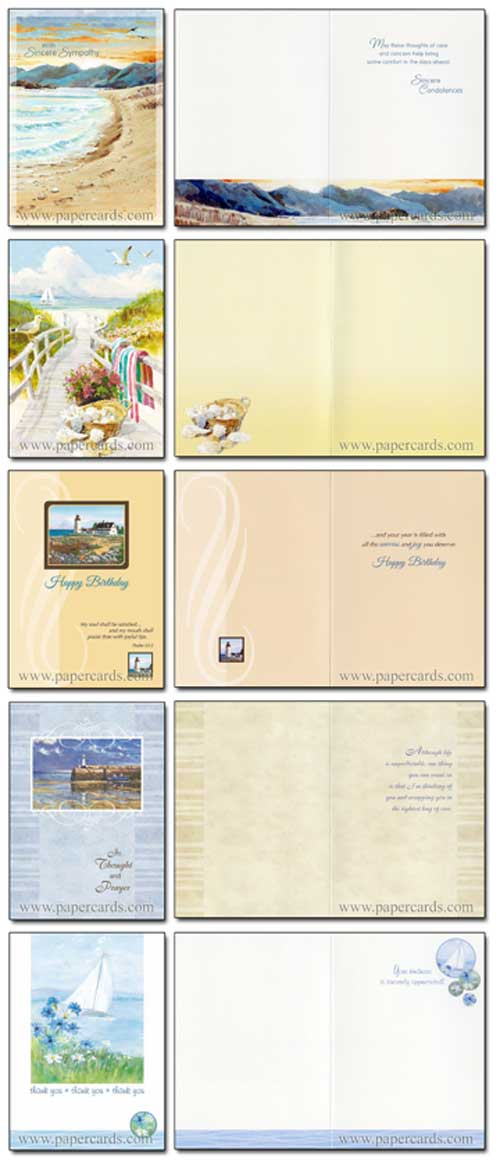 Shoreline Greetings Assortment (24 All Occasion Cards with envelopes) Assorted Value Boxed All Occasion Cards