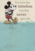 Mickey Mouse: Timeless (1 card/1 envelope) - Birthday Card