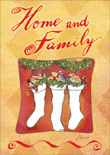 Home & Family (1 card/1 envelope) - Christmas Card - FRONT: Home and Family  INSIDE: During the holidays, the child's heart within us finds its way home. I love you. Merry Christmas