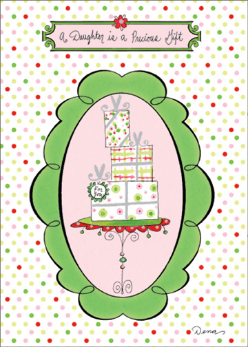 Stack of Presents (1 card/1 envelope) - Christmas Card - FRONT: A Daughter is a Precious Gift  INSIDE: Especially one as sweet as you. Merry Christmas