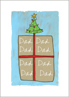 Present with Tree on Top Christmas Card