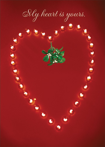 Heart of Lights (1 card/1 envelope) Christmas Card - FRONT: My heart is yours.  INSIDE: At Christmas and always.