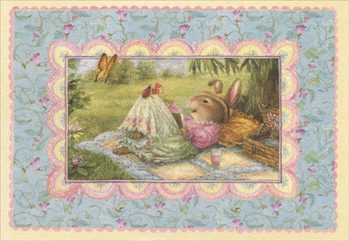 Picnic in Park (1 card/1 envelope) Holly Pond Hill Birthday Card - FRONT: No Text  INSIDE: On your special day Just a little something to remind you how dearly you are loved.