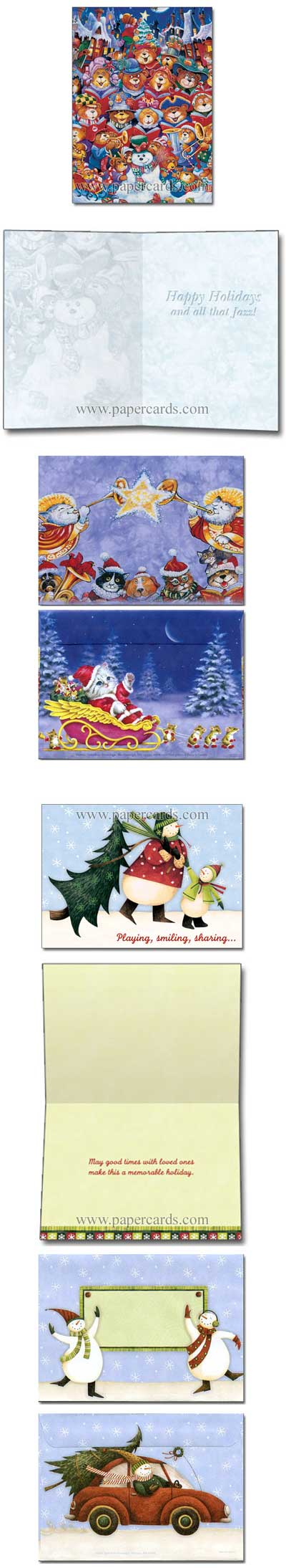 Snowmen friends box of 24 christmas cards by tree free greetings inside kristyandbryce Image collections
