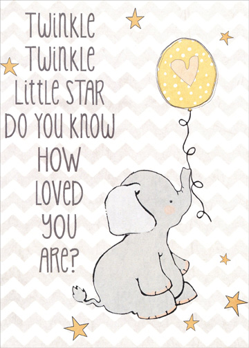Twinkle twinkle juvenile kids birthday card by tree free greetings front m4hsunfo