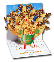 Reindeer Sleigh (1 gift card holder/1 envelope) - Christmas Gift Card Holder