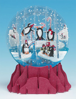 Penguins Snowglobe  (1 card/1 envelope) - Christmas Card