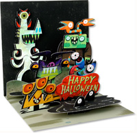 Monsters (1 card/1 envelope) Up With Paper Pop-Up Halloween Card