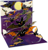 Flying Bats  (1 card/1 envelope) - Halloween Card