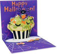 Spider Cupcake (1 card/1 envelope) Up With Paper Pop-Up Halloween Card