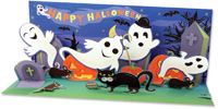 Happy Haunters  (1 card/1 envelope) - Pop-Up Halloween Card  INSIDE: HAPPY HALLOWEEN