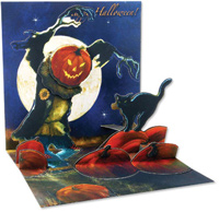 Pumpkin Patch  (1 card/1 envelope) - Pop-Up Halloween Card  INSIDE: Happy Halloween!