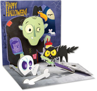 Igor  (1 card/1 envelope) - Pop-Up Halloween Card  INSIDE: HAPPY HALLOWEEN!