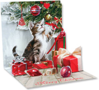 Kitten's Christmas (1 card/1 envelope) - Christmas Card  INSIDE: Merry Christmas