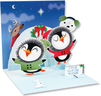 Skating Penguins (1 card/1 envelope) - Christmas Card