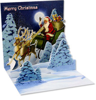 Woodland Sleigh (1 card/1 envelope) - Christmas Card  INSIDE: Merry Christmas