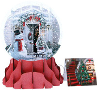 Holiday Door Large Snow Globe Christmas Card