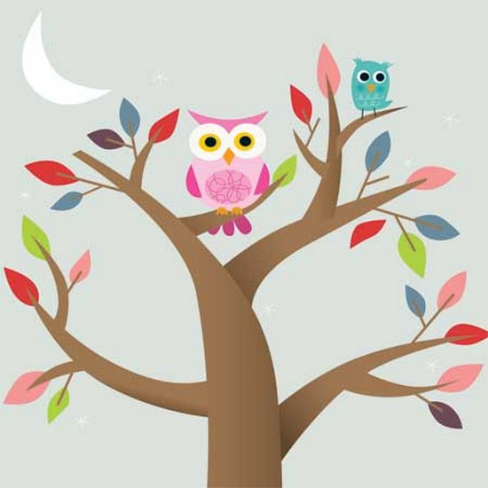 Owls (1 card/1 envelope) Up With Paper Pop-Up Greeting Card  INSIDE: Choose your own message