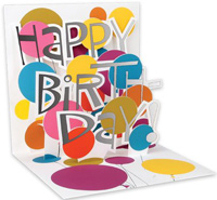 Birthday Words (1 card/1 envelope) - Birthday Card
