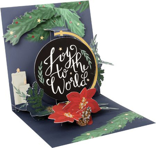 Pop Up Christmas Cards.Details About Up With Paper Joy To The World Pop Up Christmas Card