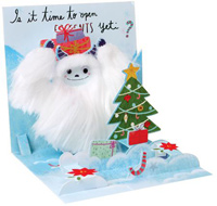 Yeti with Presents Pop-Up Christmas Card