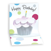 Cupcake (1 card/1 envelope) - Pop-Up Birthday Card  INSIDE: Happy Birthday!