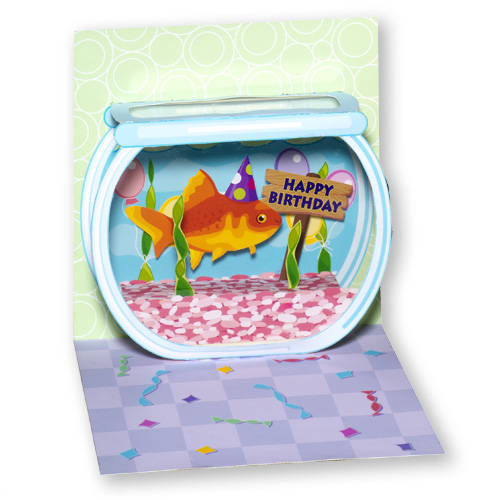 Goldfish Birthday Pop Up Birthday Card By Up With Paper