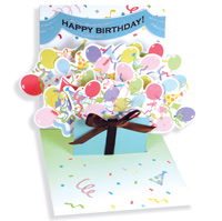 Birthday Explosion (1 card/1 envelope) - Pop-Up Birthday Card  INSIDE: Happy Birthday!