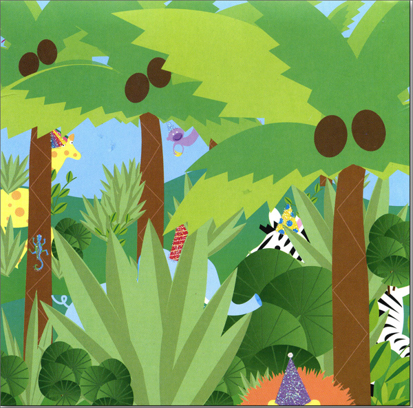 Jungle (1 card/1 envelope) Up With Paper Pop-Up Birthday Card  INSIDE: Happy Birthday!