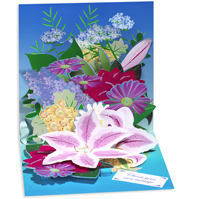 Mixed Bouquet (1 card/1 envelope) - Pop-Up Greeting Card