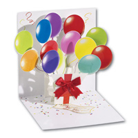 Balloons (1 card/1 envelope) - Pop-Up Greeting Card