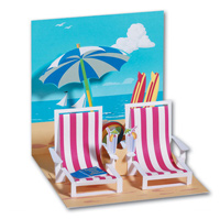 Beach Chairs (1 card/1 envelope) - Pop-Up Greeting Card