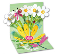 Daisy Birthday (1 card/1 envelope) - Pop-Up Birthday Card  INSIDE: Happy Birthday