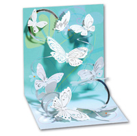 Floating Butterflies (1 card/1 envelope) - Pop-Up Greeting Card