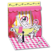 Bathtub (1 card/1 envelope) - Pop-Up Greeting Card