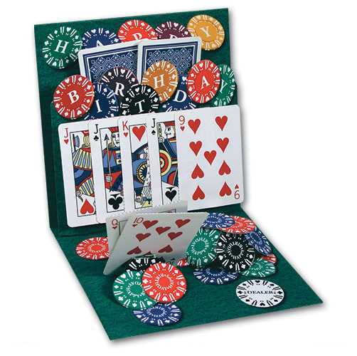 Texas Hold em PopUp Birthday Card by Up With Paper – Poker Birthday Cards