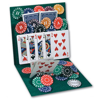 Texas Hold 'em (1 card/1 envelope) - Pop-Up Birthday Card  INSIDE: Happy Birthday