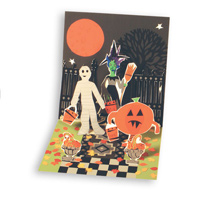 Tricks or Treats (1 card/1 envelope) - Pop-Up Halloween Card