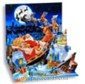 Santa's Sleigh Ride (1 card/1 envelope) - Pop-Up Christmas Card - FRONT: Merry Christmas