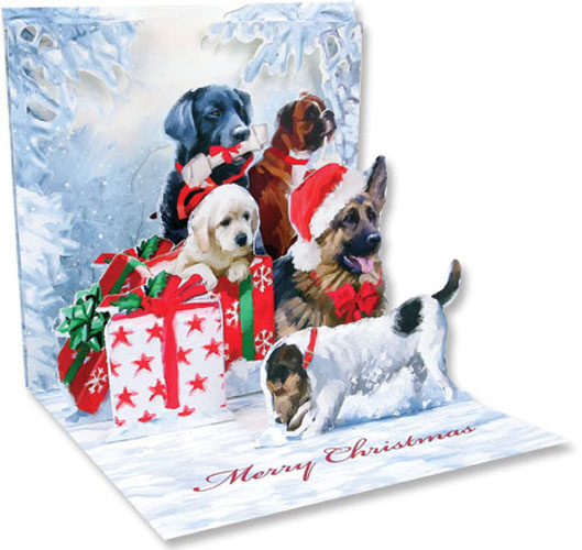 Christmas Dogs (1 card/1 envelope) - Christmas Card  INSIDE: Merry Christmas