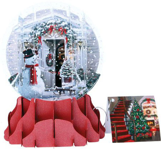 Holiday Door Large Snowglobe (1 card/1 envelope) Up With Paper Pop-Up Christmas Card